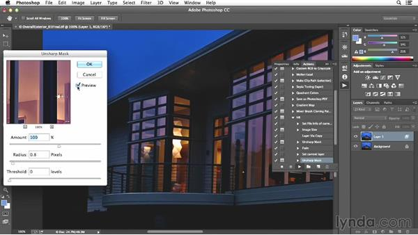 Final actions on the exterior shot: Enhancing Exterior Architectural Photos