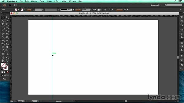 Creating and positioning guides: UX Design Tools: Illustrator