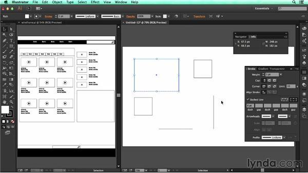 Adjusting the appearance of shapes: UX Design Tools: Illustrator