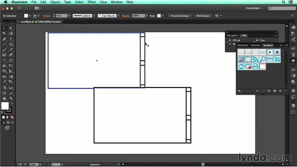 Modifying symbols: UX Design Tools: Illustrator