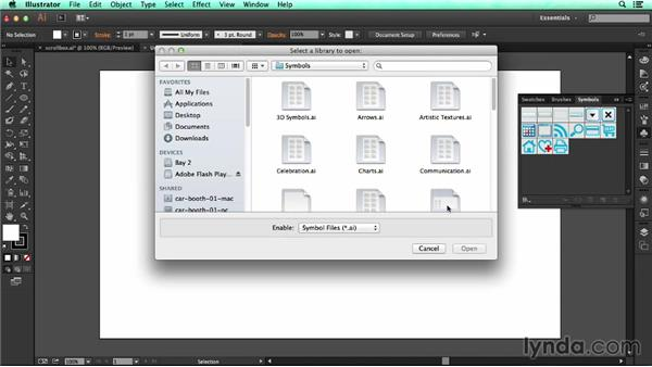 Using symbols across multiple documents: UX Design Tools: Illustrator