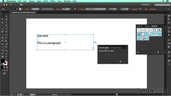 Creating character and paragraph styles: UX Design Tools: Illustrator