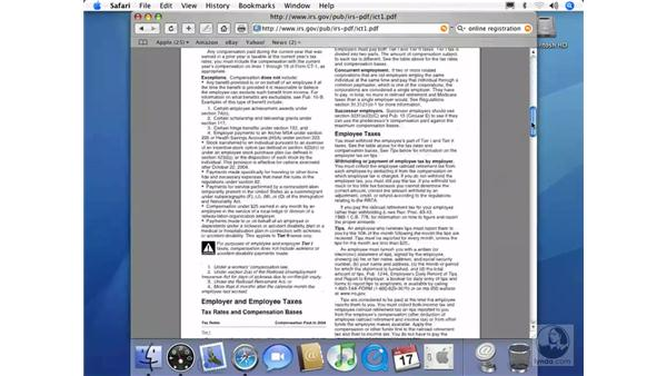 Viewing PDFs: Mac OS X 10.4 Tiger Essential Training