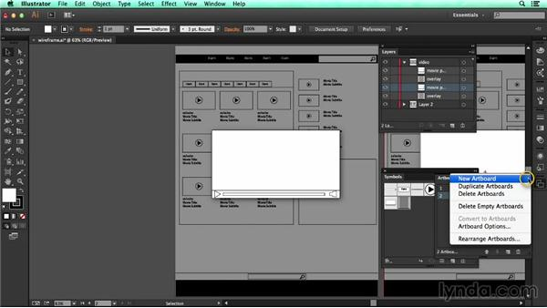 Using artboards to display application states: UX Design Tools: Illustrator