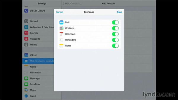 Setting up an Exchange account: iPad for Business