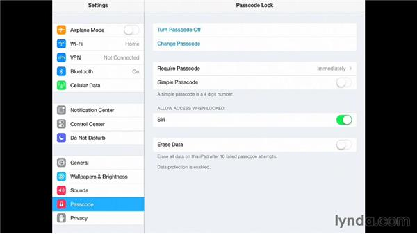 Working with the iPad's security settings: iPad for Business
