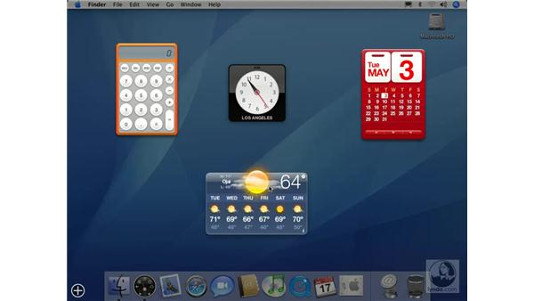 Introduction to the Dashboard: Mac OS X 10.4 Tiger Essential Training
