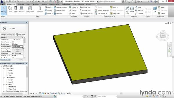 Understanding parts: Revit Construction Modeling Tools