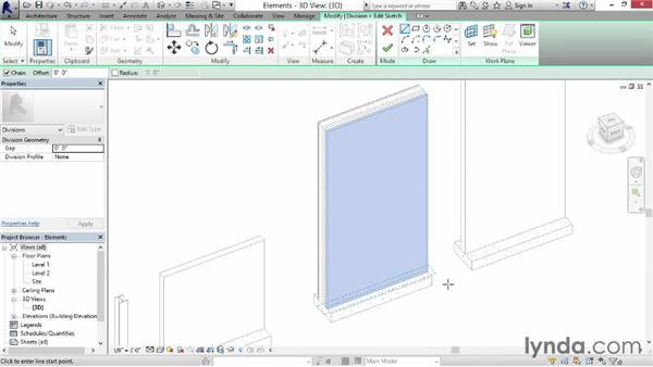 Dividing parts: Revit Construction Modeling Tools