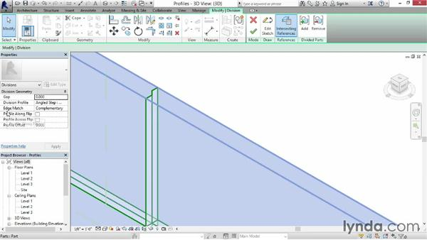 Customizing division shape profiles: Revit Construction Modeling Tools