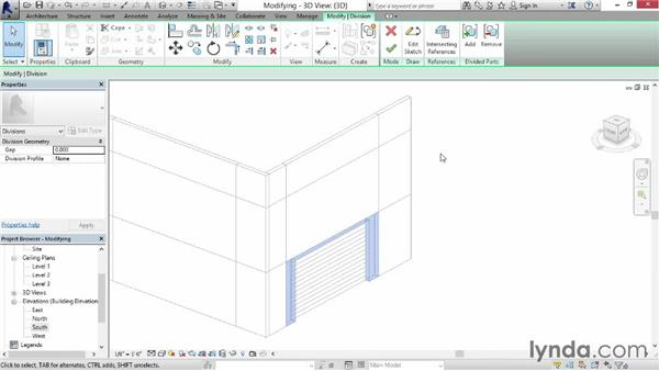 Modifying divisions: Revit Construction Modeling Tools