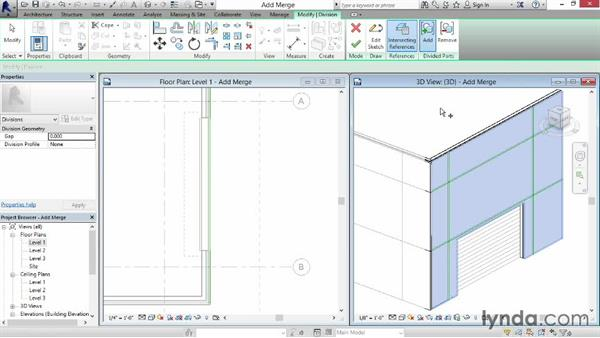 Adding and merging parts: Revit Construction Modeling Tools