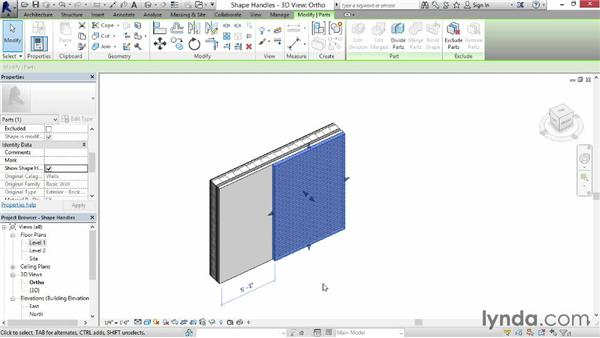 Enabling shape handles: Revit Construction Modeling Tools
