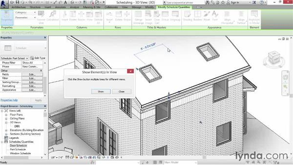 Scheduling parts: Revit Construction Modeling Tools