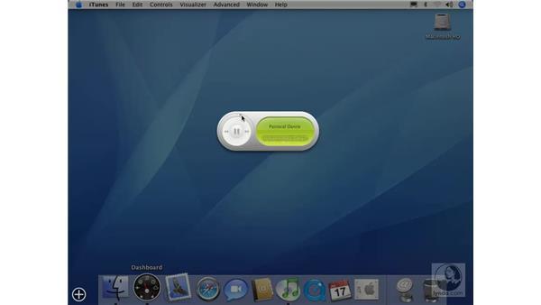 iTunes Widget: Mac OS X 10.4 Tiger Essential Training