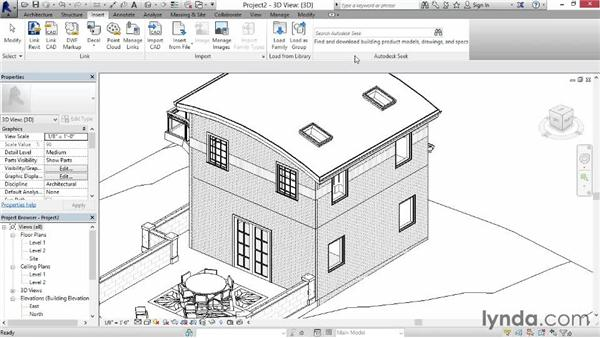 Creating parts from linked files: Revit Construction Modeling Tools