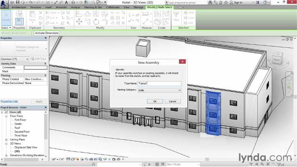 Understanding and creating assemblies: Revit Construction Modeling Tools