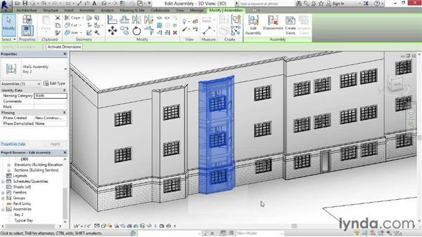 Editing assemblies: Revit Construction Modeling Tools