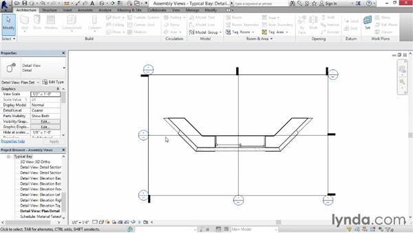 Creating assembly views: Revit Construction Modeling Tools