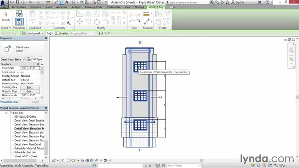 Creating assembly sheets: Revit Construction Modeling Tools