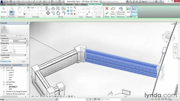 Using assemblies and parts together: Revit Construction Modeling Tools