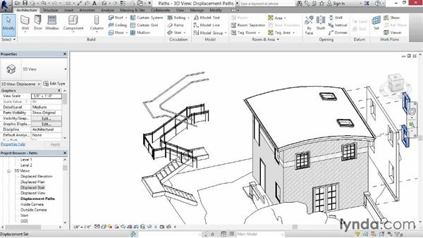 Adding displacement paths: Revit Construction Modeling Tools