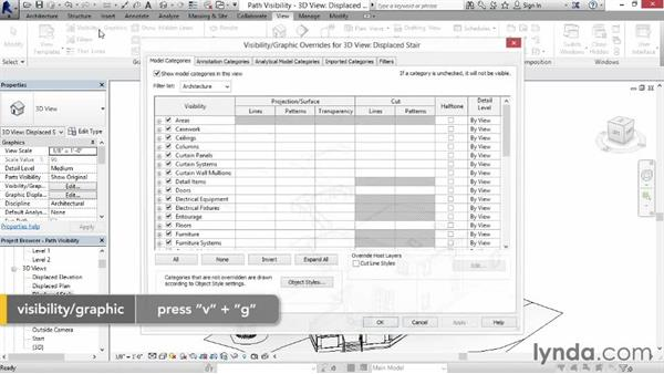 Controlling displacement views: Revit Construction Modeling Tools
