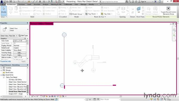 Presenting displacement views on sheets: Revit Construction Modeling Tools