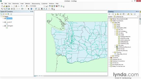 Adding data to the map: Up and Running with ArcGIS