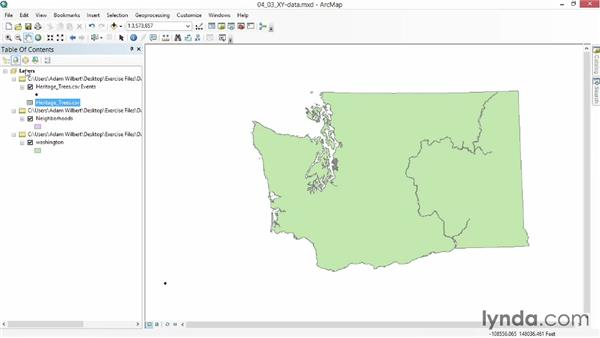 Plotting points from a spreadsheet: Up and Running with ArcGIS
