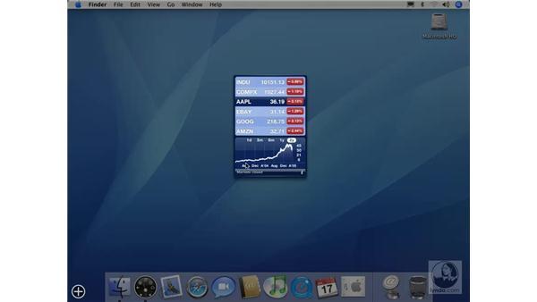 Stock Ticker Widget: Mac OS X 10.4 Tiger Essential Training