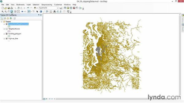 Clipping data to a study area: Up and Running with ArcGIS