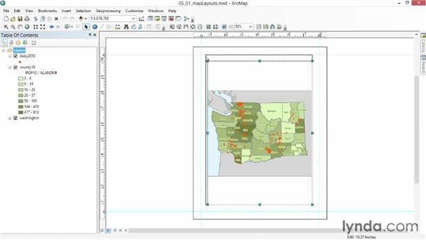 Working with map layouts: Up and Running with ArcGIS