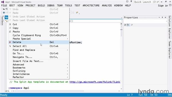 Understanding the editor: Visual Studio 2013 for Windows Store Developers