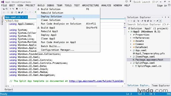 Invoking the compiler: Visual Studio 2013 for Windows Store Developers