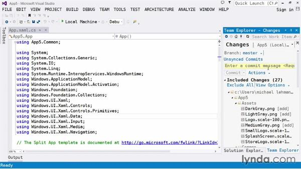 Investigating source code control: Visual Studio 2013 for Windows Store Developers