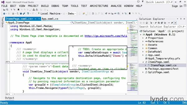 Navigating your code: Visual Studio 2013 for Windows Store Developers