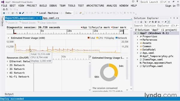 Performance and diagnostics: Visual Studio 2013 for Windows Store Developers