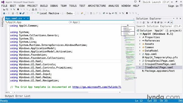 Choosing a template for your app: Visual Studio 2013 for Windows Store Developers