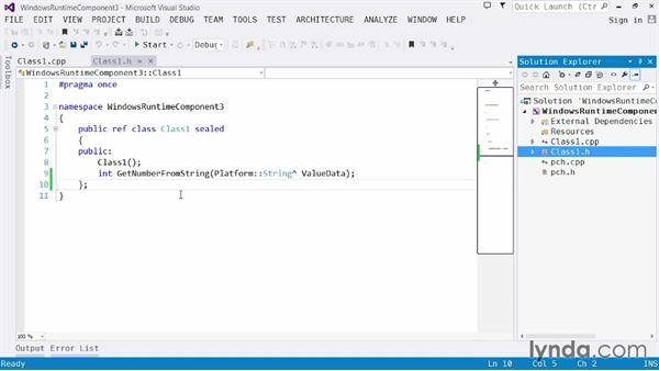 Using native code: Visual Studio 2013 for Windows Store Developers