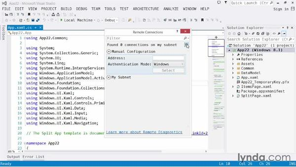 Remote debugging: Visual Studio 2013 for Windows Store Developers
