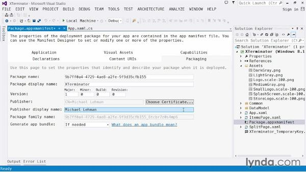 Fine-tuning your app manifest and packaging the app: Visual Studio 2013 for Windows Store Developers