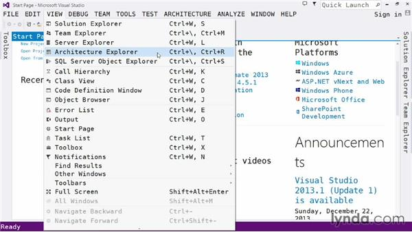 Exploring the IDE: The Edit and View menus: Visual Studio 2013 for Web Developers