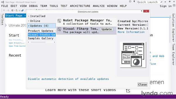 Exploring the IDE: Tools menu: Visual Studio 2013 for Web Developers