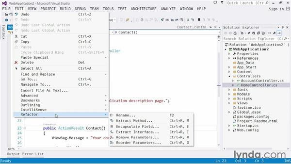 Understanding the editor: Visual Studio 2013 for Web Developers