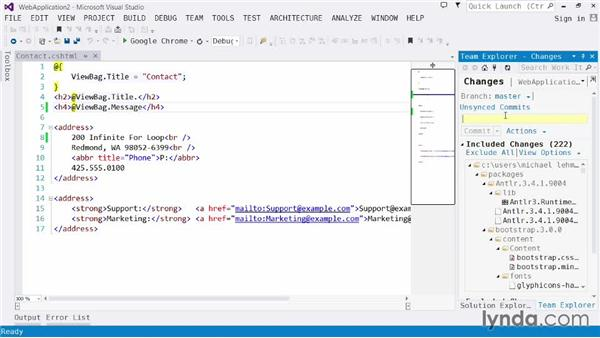 Investigating source code control: Visual Studio 2013 for Web Developers