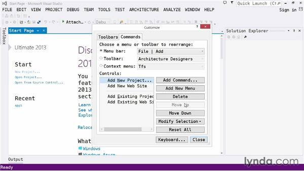 Customizing the experience: Visual Studio 2013 for Web Developers