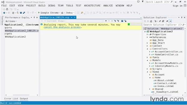 Performance and diagnostics: Visual Studio 2013 for Web Developers