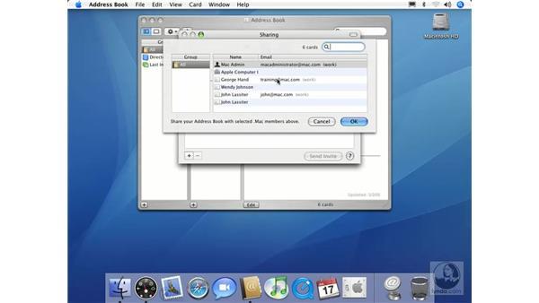Address Book Sharing: Mac OS X 10.4 Tiger Essential Training