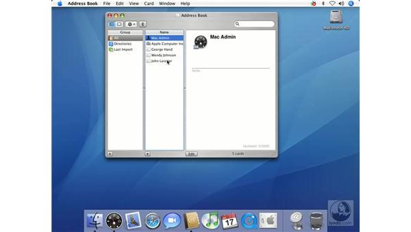 Finding Duplicates in Address Book: Mac OS X 10.4 Tiger Essential Training